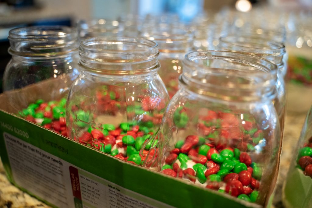 Holiday Cookie Gift Mason Jar - M&M Cookies